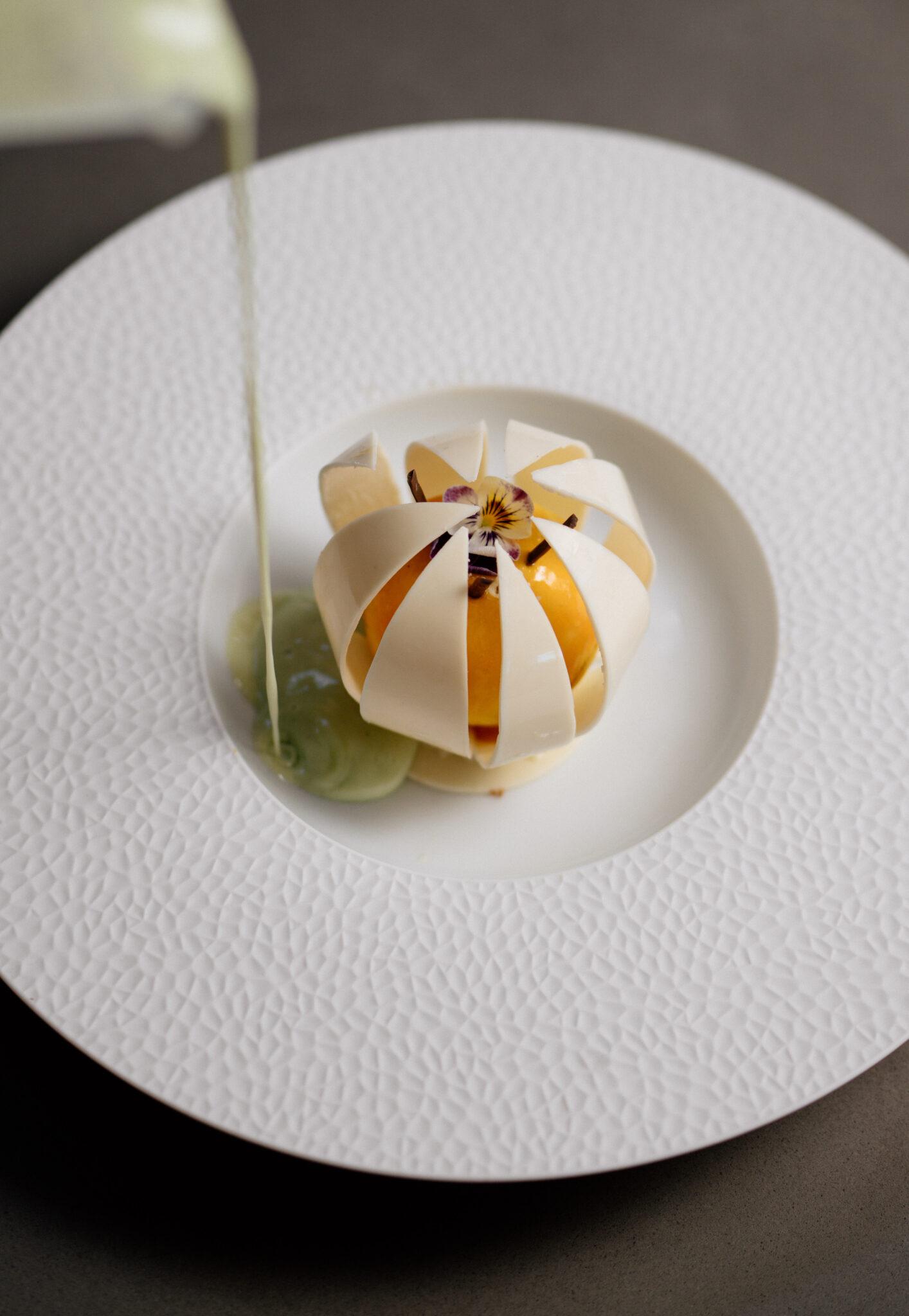 restaurant dessert white